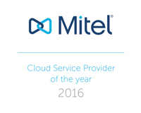 Mitel Cloud Service Provider of the year 2016