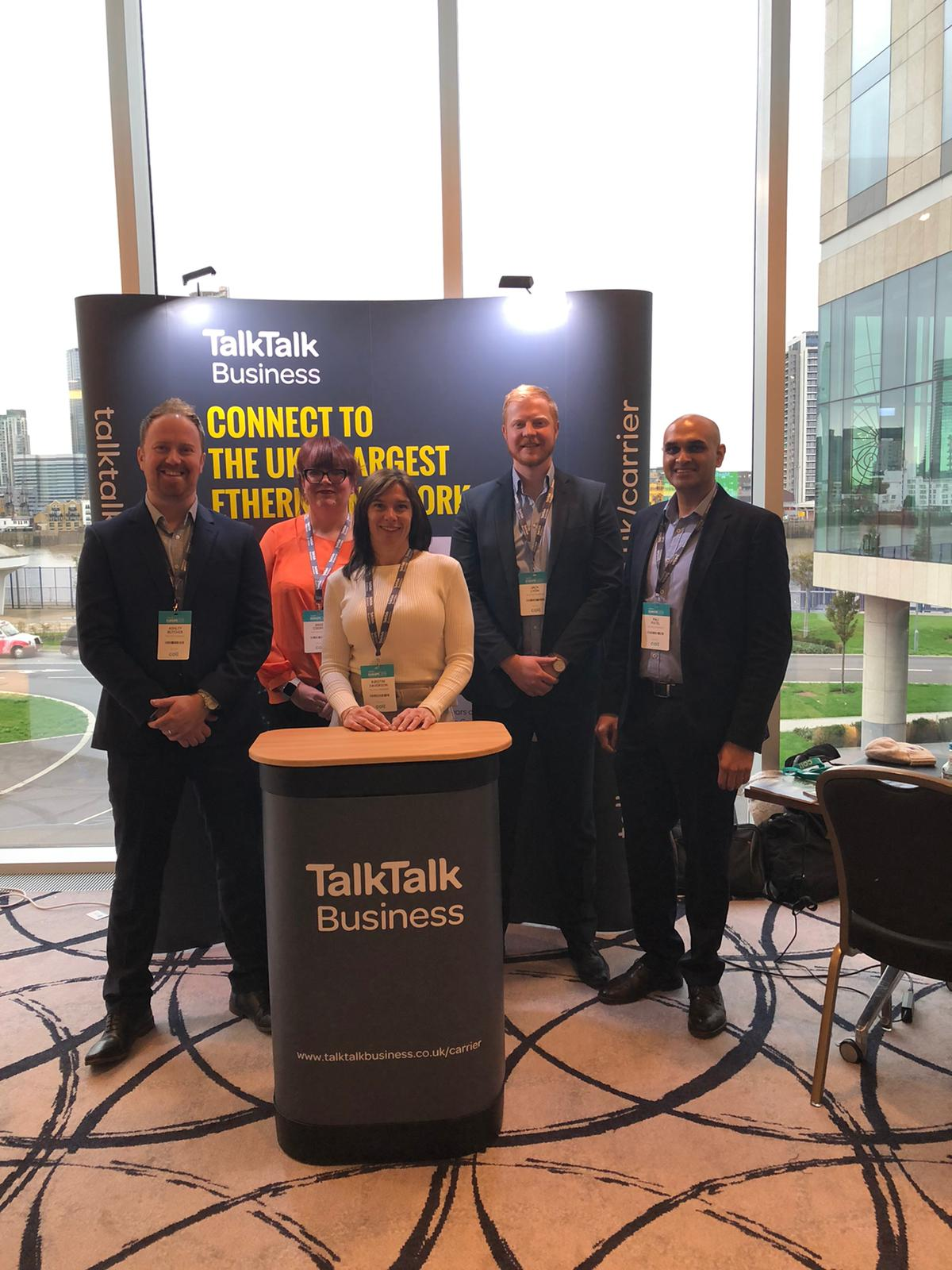 TalkTalk Business Carrier team at Capacity Europe on stand