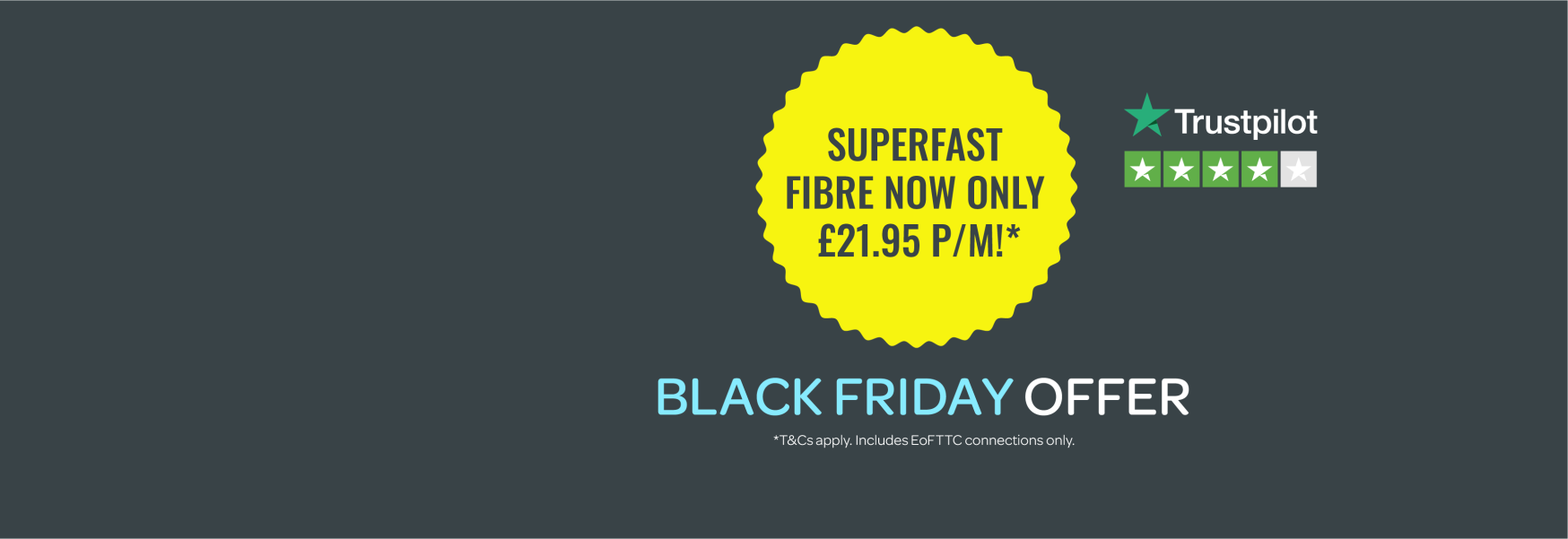 Superfast Fibre now only £21.95!